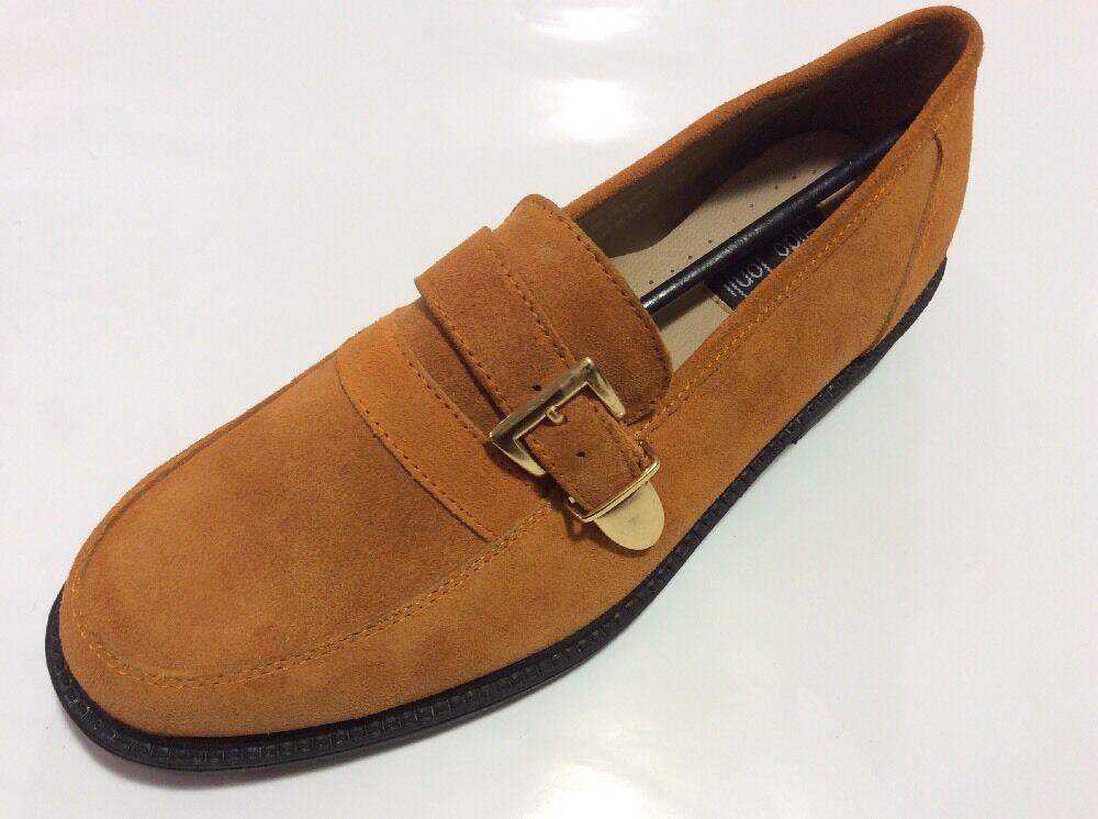 Herren Formelle Schuhe Aldo Ponti Orange ohne Bügel, Rund Weiche Neu & Kiste