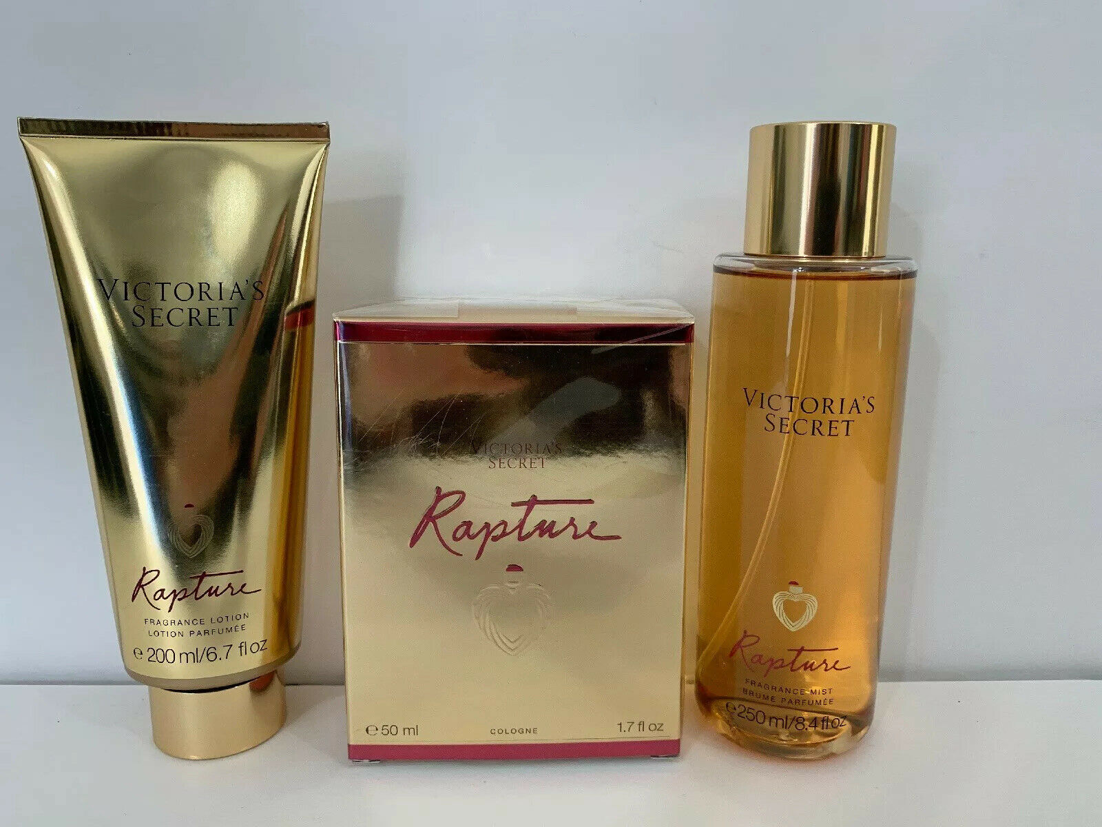 VICTORIA'S SECRET RAPTURE COLOGNE Eau De Perfume 1.7oz, Mist & Lotion Set
