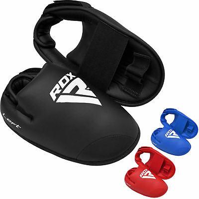 RDX Semi Contact Kickboxing Cut Short Boots ITF TKD Karate Shoes Foot Protectors