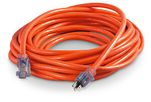 100 Ft 14 Gauge Extension Cord Heavy Duty Grounded Lit End