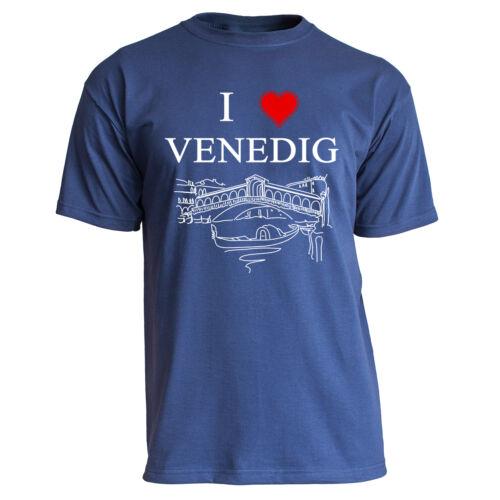 """Nukular T-Shirt Motiv /""""I Love Venedig/"""" Venice Italien Rialto Urlaub Italy Rom"""