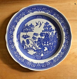 Image Is Loading Spode Blue Room Collection Willow Dinner Plate England