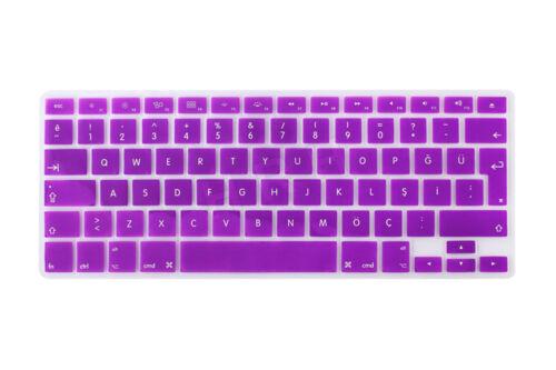 Turkish Silicone EU//UK Keyboard Skin Cover For MacBook Pro Retina  Air 13 15 17