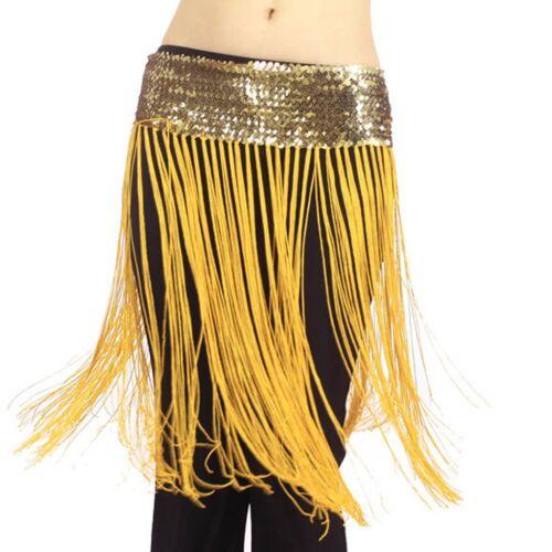 Dancing Costume Oriental Belly Dance Hip Scarf Wrap sequins Fringe Tassel Skirt