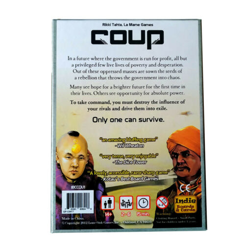 Coup Card Board Game Party Game AU