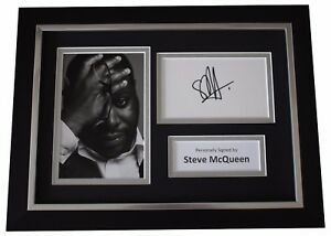 Steve-McQueen-SIGNED-A4-FRAMED-Autograph-Photo-Display-Film-Director-COA
