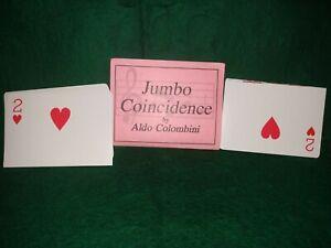 Aldo-Colombini-Jumbo-Coincidence-Magic-Trick-Jumbo-Deck-Cut-in-Half-Matches