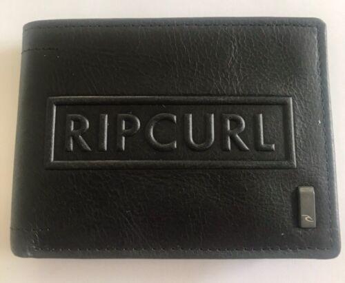 RIP CURL MENS WALLET LEATHER LACA DACA RFID GENUINE BLACK NEW RIP CURL RRP 59.99