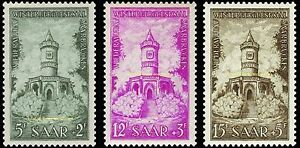 EBS-Germany-1956-SAAR-Restoration-of-Memorials-Michel-373-375-MNH