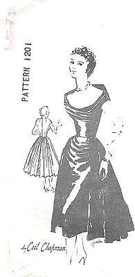 1950s Vintage Sewing Pattern B34 DRESS (1369) By CEIL CHAPMAN For SPADEA
