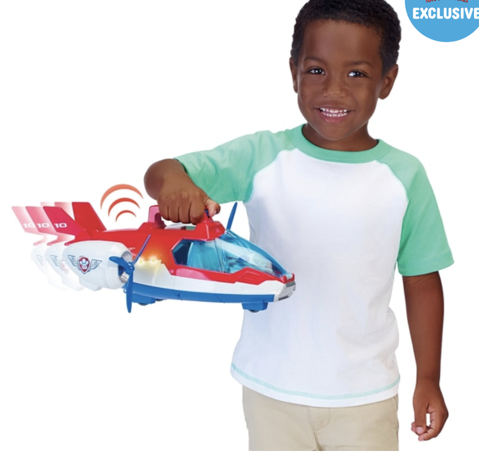 Paw Patrol Air Patroller - Kids Plane Toy Set - Christmas Light Up Action Toys