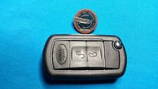 DISCOVERY 3 RANGE ROVER FLIP REMOTE KEY FOB CASE & BATTERY
