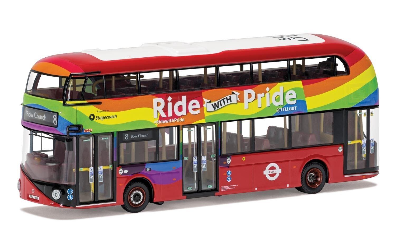 Corgi OOC nuevo Routemaster diligencia LGBT + paseo con orgullo escala 1 76 OM46618A