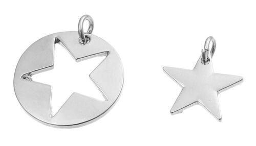 metal color plata 22x26mm y 16x20mm joyas bricolaje 1 set remolque estrella