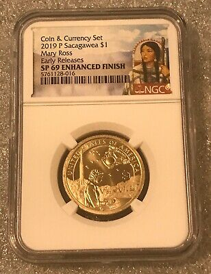 2019 P Enhanced Mary Ross Sacagawea Dollar $1 NGC SP 69 FIRST RELEASES