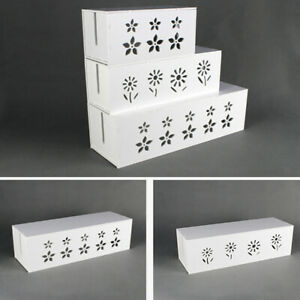 Cable-Storage-Box-Wire-Management-Socket-Case-Organizer-Safety-Tidy-White