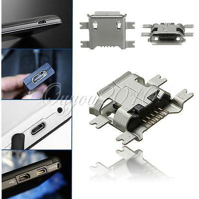 5pcs Micro USB Type B Female 5Pin Socket 4Legs SMT SMD Soldering Connector
