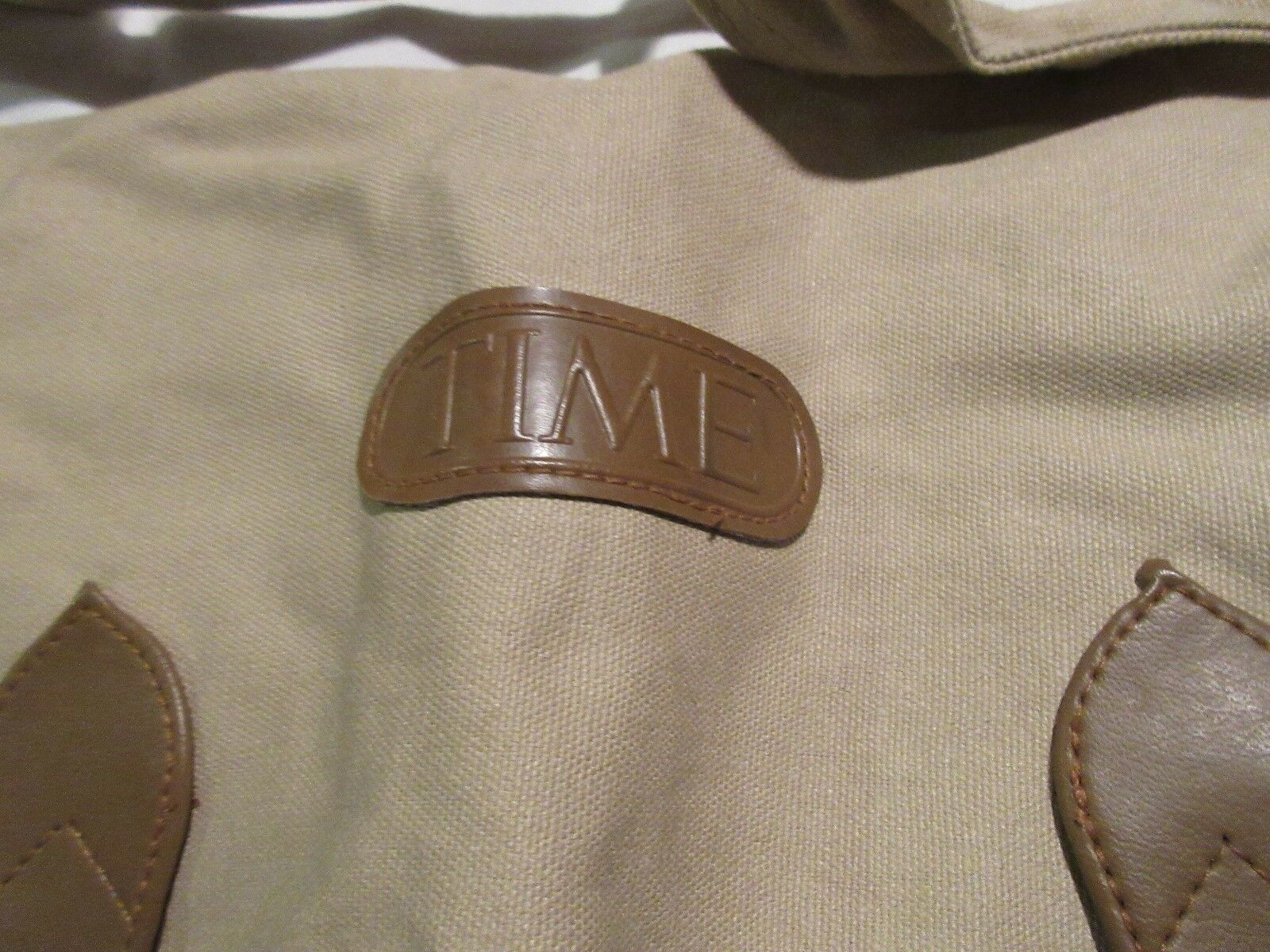 Time Magazine, Promotional Bag, Tan and Brown , Vintage