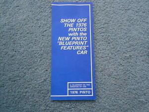 Vintage rare 1976 ford pinto blueprint features car dealer sales oem la foto se est cargando vintage raro 1976 ford pinto blueprint ofrece alquiler malvernweather Choice Image