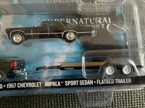 GREENLIGHT Hollywood Hitch /& Tow #2 SUPERNATURAL Impala Truck /& Trailer 1:64
