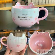 Starbucks 2020 Pink Cat Paw Ceramic Mug Lid Set Sakura Season 170ML China