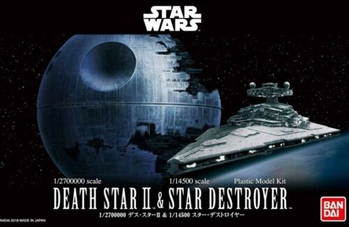 Bandai Star Wars Death Star II 1//2700000 /& 1//14500 Star Destroyer Model Kit