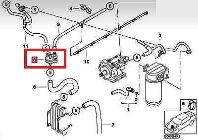 BMW NEW GENUINE E38 E39 E46 E53 E38 DIESEL SUV FUEL PREHEATING VALVE 7787822