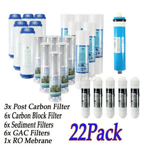 Complete Home RO Water Filter Replacement Set Fit 5 Stage Reverse Osmosis System