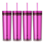 Set-of-4-Tall-Skinny-Tumblers-Acrylic-16-Ounce-Tumblers-with-Straw