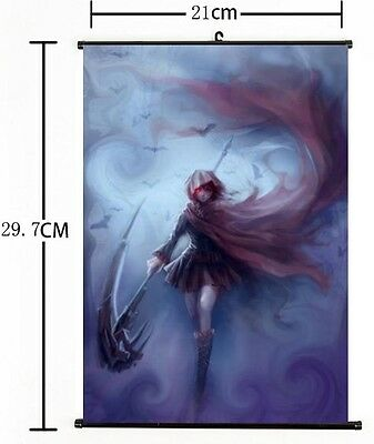 """Hot American Anime RWBY Ruby Cool Weiss Home Decor Poster Wall Scroll 8/""""×12/"""" 03"""