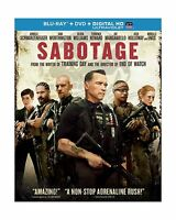 Sabotage (blu-ray + Dvd + Digital Hd With Ultraviolet) Free Shipping