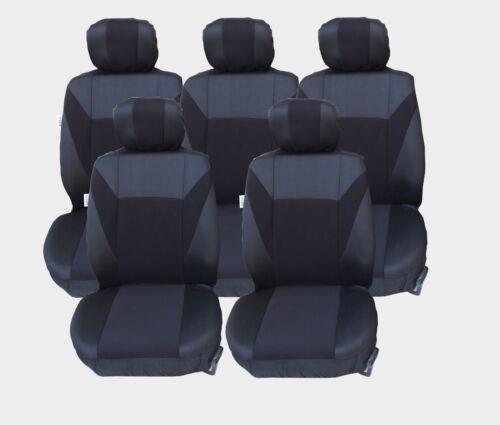 5x Sitze Sitzbezüge Schonbezüge Schwarz Polyester Neu Hochwertig Universal