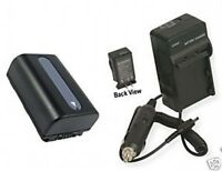 Battery + Charger For Sony Dcr-sx43 Dcrsx43e