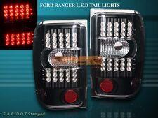 2001-2011 FORD RANGER LED L.E.D BLACK TAIL LIGHTS REAR LAMPS ASSEMBLY 2007 2008