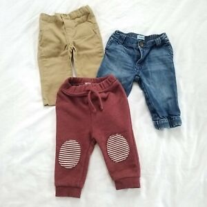 Baby Two Pack Baby Legging Navy /& Maroon 3 Month