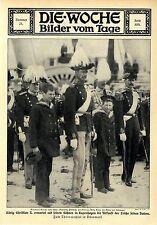 Zum Thronwechsel in Dänemark König Christian mit seinen Söhnen in Kopenhagen1912