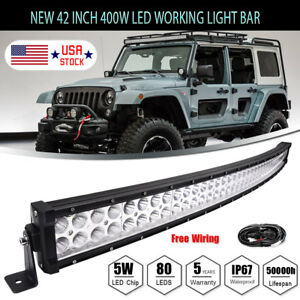 4D-42inch-400W-Curved-LED-Light-Bar-Flood-Spot-Combo-Off-road-Truck-4WD-For-JEEP