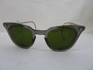 Vintage-Nos-597ms-Montatura-in-Plastica-Traslucida-Grigio-Occhiali-da-Sole