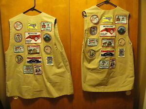 GOOD SAM'S CLUB ~ MR & MRS CAMPER ~ Set of 2 ~ Patched VESTS ~ HERS & HIS MUST C