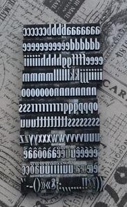 Alphabet Bleilettern Letter Druckbuchstaben Lettern Vintage Stempel Bleiletter.