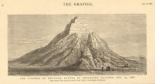 1882 THE PYRAMID OF MEYDOON OPENED BY PROFESSOR MASPERO VIEW FROM THE NORTH