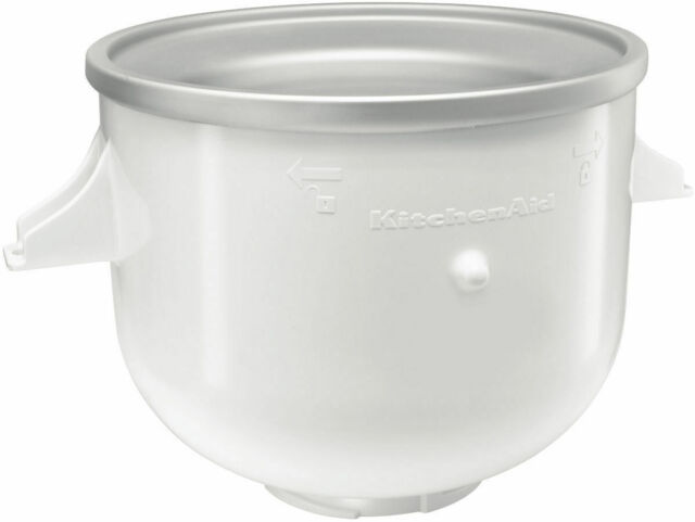 NEW & GENUINE KitchenAid White Ice Cream Bowl for Bench Mixer. FREE SHIPPING.
