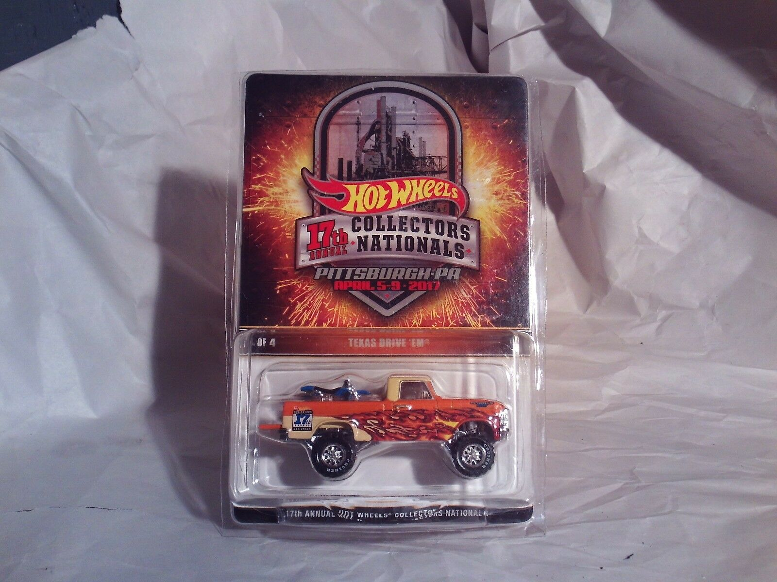 Rare Hot Wheels 2017 Pittsburgh Convention Texas Drive 'Em In In In Predective Case bbeff9