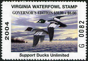 VIRGINIA-2004-GOVERNOR-Edition-A-scarce-stamp-Not-many-in-collections-Mint-NH