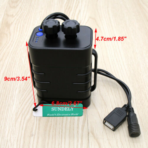 8.4V 6X 18650 Waterproof Battery Pack Case House Cover For Bicycle Bike Lamp UK