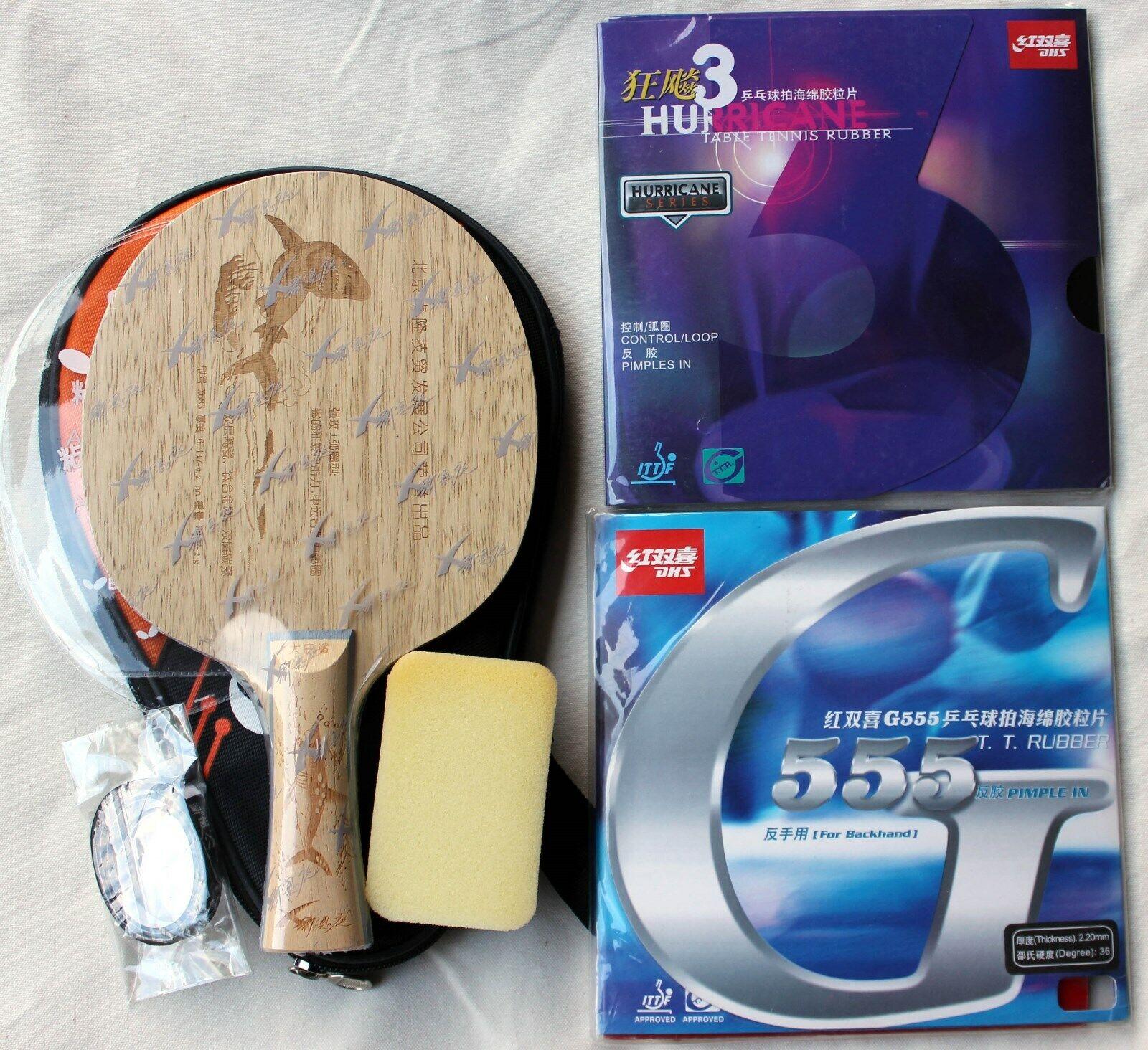 Shark 686 + Hurrican3   G555  Ti+Carbon+Ceramic Offensive Bat Case, Aussie Selle