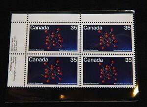CANADA-MNH-1980-Uranium-Resources-Block-of-4