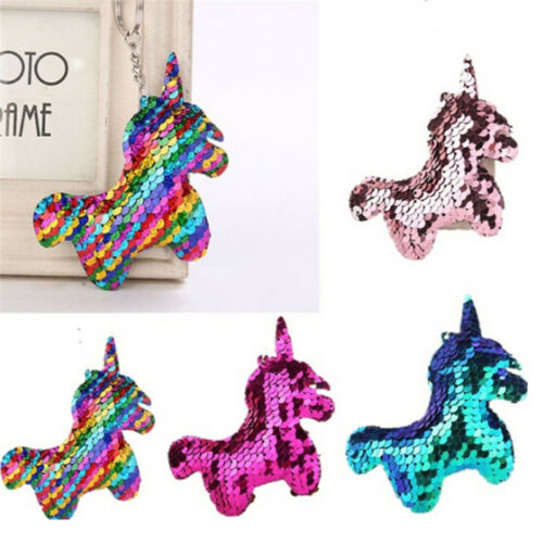 Mermaid Sequins Keychain Bag Accessories Handbag Pendant Horse Keyring Fashio SL