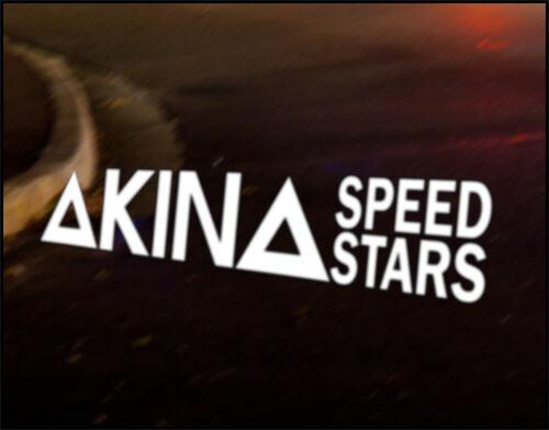 Akina speed stars inital d car decal vinyl vehicle bumper sticker jdm funny