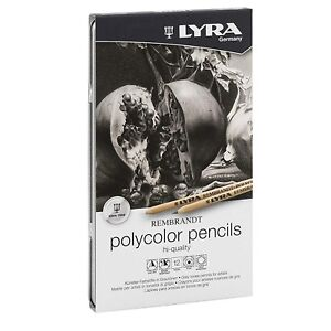 Lyra-Rembrandt-Polycolor-Profi-Plus-Pencils-Tin-of-12-Coloured-Artist-Pencils